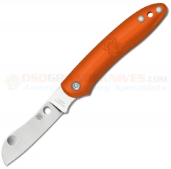 Spyderco C189POR Roadie Slipjoint Folder (2.1 Inch N690Co Sheepsfoot Blade) Orange FRN Handles