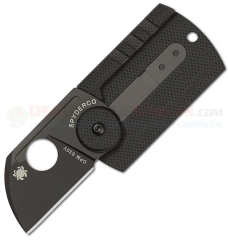Spyderco C188CFBBKP Serge Panchenko Dog Tag Folding Knife (1.22 Inch S30V Chisel Ground Blade) Carbon Fiber G10 Handle