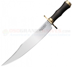 Cold Steel Natchez Bowie Fixed (11.75 Inch A2 Tool Steel Satin Plain Blade) Micarta Handle + Secure-Ex Sheath 39LMB