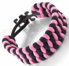 Columbia River CRKT Tom Stokes Adjustable Paracord Bracelet Pink/Black 9400PK