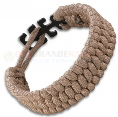 Columbia River CRKT Tom Stokes Adjustable Paracord Bracelet Tan 9400T