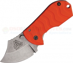 ARS Knives Flip Shank Frame Lock Folding Knife (2 Inch 154CM Stonewashed Blade) Orange G10 Handle ARS09HO