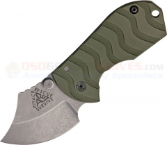 ARS Knives Flip Shank Frame Lock Folding Knife (2 Inch 154CM Stonewashed Blade) OD Green G10 Handle ARS09OD