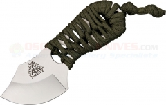 ARS Knives Shanghai Shank Neck Knife (Fixed 2.25 Inch Satin Blade) OD Paracord Handle ARS07OD