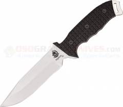 Anglesey Knives Rival Polished Fixed Blade (6 Inch 440C Drop Point) G10 Handle ANG01P