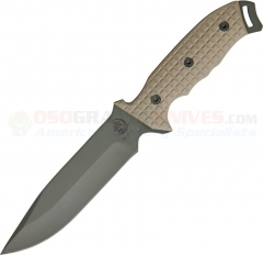 Anglesey Knives Rival Olive Drab Fixed Blade (6 Inch 440C Drop Point) G10 Handle ANG01OD