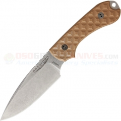 Bradford Knives Guardian3 Fixed Blade EDC Knife (3.5 Inch N690 Spearpoint Blade) Coyote Brown G10 Handles BRAD03