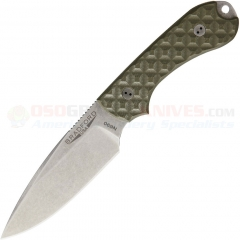 Bradford Knives Guardian3 Fixed Blade EDC Knife (3.5 Inch N690 Spearpoint Blade) OD Green G10 Handles BRAD02
