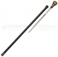 Skull Walking Cane Sword (33 Inches Overall) Round Knob Handle Aluminum Shaft CN926869