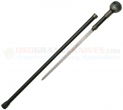 Yin Yang Walking Cane Sword (36 Inches Overall) Round Knob Handle Aluminum Shaft CN926874