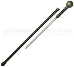 Fleur de Lis Walking Cane Sword (36 Inches Overall) Round Knob Handle Aluminum Shaft CN926875
