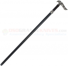 Kit Rae Axios Forged Sword Cane (29.75 Inches Overall) Rayskin and Leather Wrapped Handle KR56