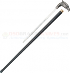 Eagle Sword Cane (34 Inches Overall) Cast Metal Handle Black Aluminum Shaft PA1088