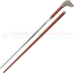 CAS Hanwei Silver Plated Gun Dog Pommel Sword Cane (37.25 Inches Overall) Rosewood SH2132