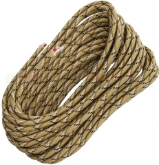 Live Fire Gear Desert Storm 550 FireCord Paracord Nylon Braided 7-Strand + 1 Tinder Core (25 Feet)