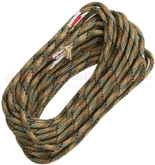 Live Fire Gear Multicam Camo 550 FireCord Paracord Nylon Braided 7-Strand + 1 Tinder Core (25 Feet)