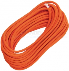 Live Fire Gear Safety Orange 550 FireCord Paracord Nylon Braided 7-Strand + 1 Tinder Core (25 Feet)