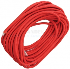 Live Fire Gear Solid Red 550 FireCord Paracord Nylon Braided 7-Strand + 1 Tinder Core (25 Feet)