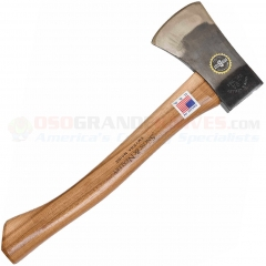 Snow & Nealley Outdoorsmans Belt Axe Hatchet (14.5 Inch Hickory Handle) Leather Sheath SNOW14
