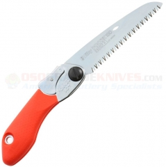 Silky Saws PocketBoy 130 Folding Landscape Hand Saw (5.12 Inch 130mm Large Tooth Blade) Red Rubber Overmolded Aluminum Handle 346-13