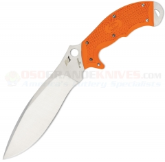 Spyderco FB20POR Rock Salt Sprint Run Fixed Blade (6.75 Inch H1 Satin Plain Blade) Orange FRN Handle