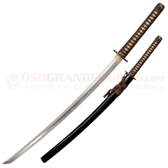 Cold Steel Mizutori Katana Sword (29.75 Inch 1095 Carbon Steel Blade) Ray Skin Wrapped Handle + Black Lacquered Wood Scabbard 88CKK