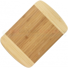 Bamboo Cutting Board (11.75 x 7.75 x 0.75 Inches) Light and Dark Bamboo Wood Construction