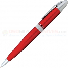 Zippo Allegheny Ballpoint Pen (Solid Brass Construction with Twist Action) Gloss Red with Polished Chrome Accents ZO41028