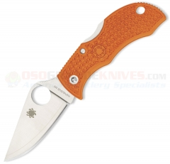 Spyderco MBORPE Manbug Key Ring Folding Knife Sprint Run (1.88 Inch HAP40/SUS410 Satin Plain Blade) Burnt Orange FRN Handle