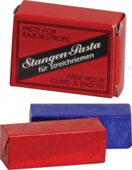 Herold Solingen German Stagen Pasta Solid Double Paste for Razor Strops (Red and Black Paste) HS501
