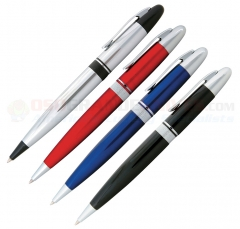Zippo Allegheny Ballpoint Pen Set (4 Pack Assortment-Red-Blue-Black-Chrome)