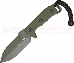 Microtech Crosshair Combat Dagger Knife Fixed (5.0 Inch Double-Edge Green Plain Blade) Polymer Handle, Kydex Sheath 101-1GR