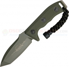 Microtech Currahee Tanto Combat Knife Fixed (4.5 Inch Green Single-Edge Plain Blade) Polymer Handle, Kydex Sheath 103-1GR