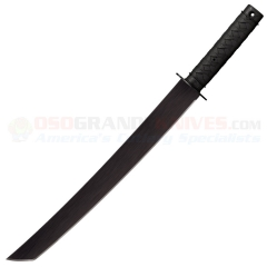 Cold Steel Tactical Wakizashi Machete (18.0 Inch Tanto 1055 Carbon Steel Blade) Polypropylene Handle + Cor-Ex Sheath 97TKLZ