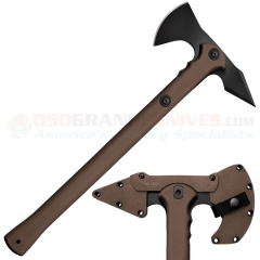 Cold Steel Trench Hawk Combat Tomahawk (8.75 Inch Drop Forged 1055HC Hawk) 19 Inch Dark Earth Polypropylene Handle, Secure-Ex Sheath 90PTHFZ