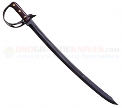 Cold Steel 88CS 1917 Cutlass (25 Inch Blued 1055 Carbon Steel Blade) Brown Hardwood Handle Leather Scabbard