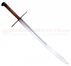 Cold Steel 88GMS Grosse Messer Sword (32 Inch 1050 High Carbon Steel Blade) Rosewood Grip Wood/Leather Scabbard