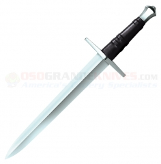 Cold Steel Hand-And-A-Half Dagger (13 Inch Hand Forged Double-Edge 1055 Carbon Steel Blade) Leather Grip + Scabbard 88HNHD