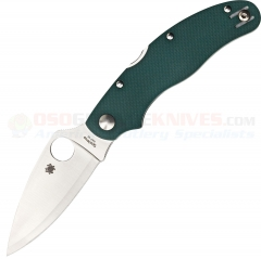 Spyderco C113GPGR Caly 3 Sprint Run Folding Knife (3 Inch HAP40/SUS410 Satin Plain Blade) Green G10 Handle