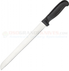 Spyderco K01SBK Bread Knife (10.24 Inch MBS-26 Serrated Blade) Black Polypropylene Handle