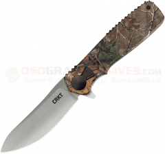 Columbia River CRKT Homefront Hunter Flipper Liner Lock Folding Knife (3.57 Inch 1.4116 Stainless Satin Plain Blade) Real Tree XL Camo GRN Handle K265CXP