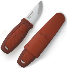 Morakniv Eldris Pocket-Size Neck Knife Fixed (2.2 Inch 12C27 Satin Plain Blade) Red Polypropylene Handle | Plastic Sheath FT01757