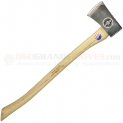 Snow & Nealley Our Best Single Bit Axe (27.5 Inch Hickory Handle) 3.3lb Axe Head + Leather Sheath SNOW16