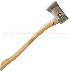 Snow & Nealley Our Best Single Bit Axe (29.0 Inch Hickory Handle) 3.5lb Axe Head + Leather Sheath SNOW26