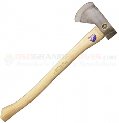 Snow & Nealley Hudson Bay Camping Axe (23.0 Inch Hickory Handle) High Carbon Steel Axe Head + Leather Sheath SNOW12
