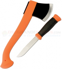 Morakniv Mora of Sweden Outdoor Kit Orange (Axe + Knife) Polymer Handles + Plastic Sheath FT13884