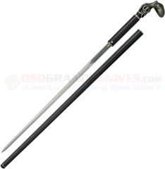 Dragon King Octopus Carbon Fiber Sword Cane (22.50 Inch Mirror Polished Rapier Style Carbon Steel Blade) Carbon Fiber Shaft and Scabbard DRK12751