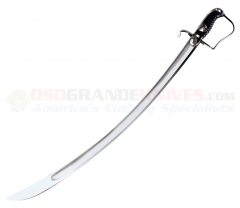 Cold Steel 88S 1796 Light Cavalry Saber (33 Inch 1050 Carbon Steel Blade) Leather Grip and Scabbard