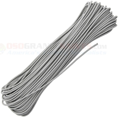 Gray Tactical Paracord (100 ft. x 3/32 in. 4 Strand 275 Lbs. Test Nylon Parachute Cord) Made in USA RG1160