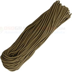 Coyote 325 Paracord (100 ft. 4 Strand 325 Lbs. Test Nylon Parachute Cord) Made in USA RG1170H
